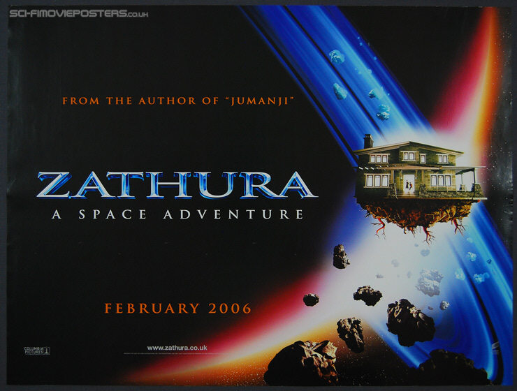 Zathura: A Space Adventure (2005) - Original British Quad Movie Poster